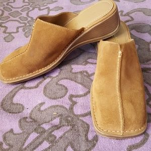 Tan suede mules from Villager by Liz Claiborne 7.5